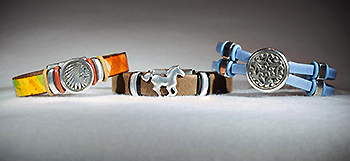 Leather Bracelets by Jan Barnes-Over Home Creations